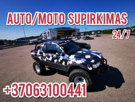 Automobilių, motociklų supirkimas visoje Lietuvoje!